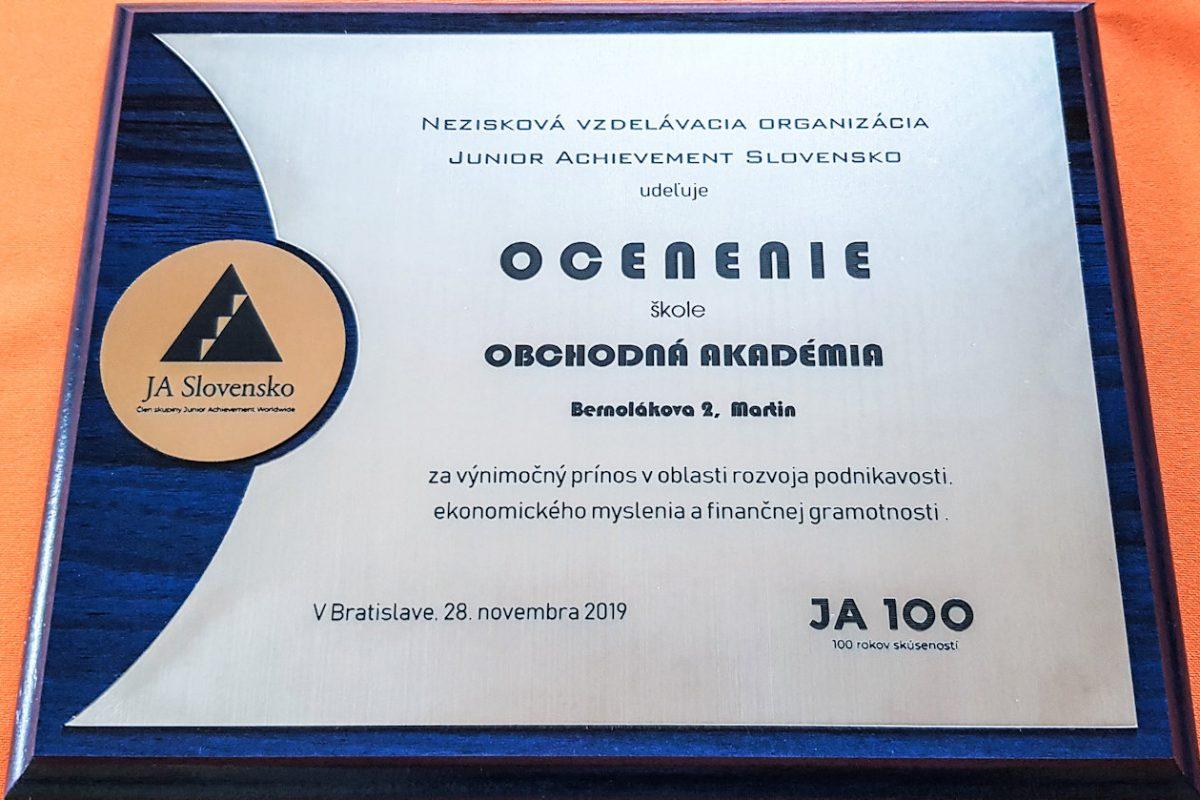 OAMartin_ocenenie školy (2)