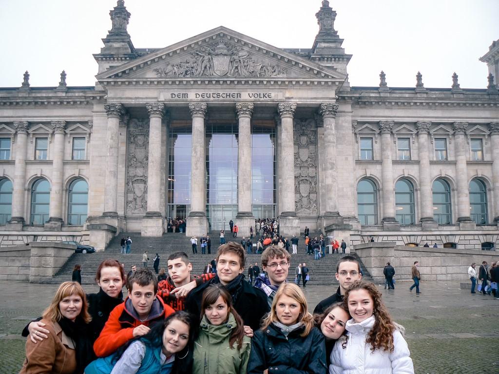 Žiaci na jazykovom kurze v Berlíne (2008)